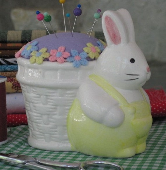 Flower Basket Bunny Pincushion