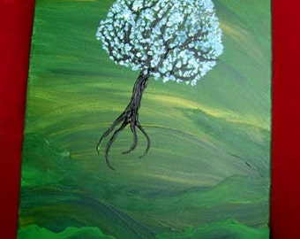 Jellyfish - Original Acrylic Painting Canvas - 16 x 20