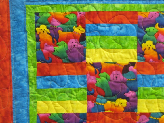 Baby Quilt - Dog Days of Color