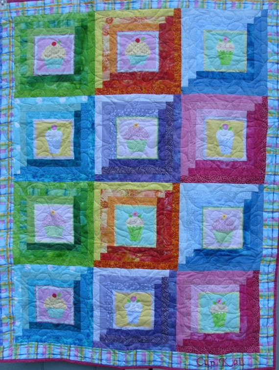 Cupcake quilt for Tammy