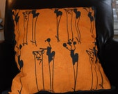 Yellow African Batik pillow