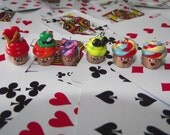 FREE SHIPPING Alice in Wonderland Inspired Cupcake Charms