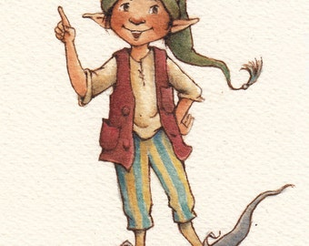 Archival Print: Natty Pirate Elf