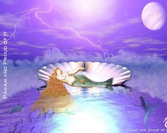 """Venus, Sea foam born Mother of Love - 8"""" x 10"""" Art Print"""