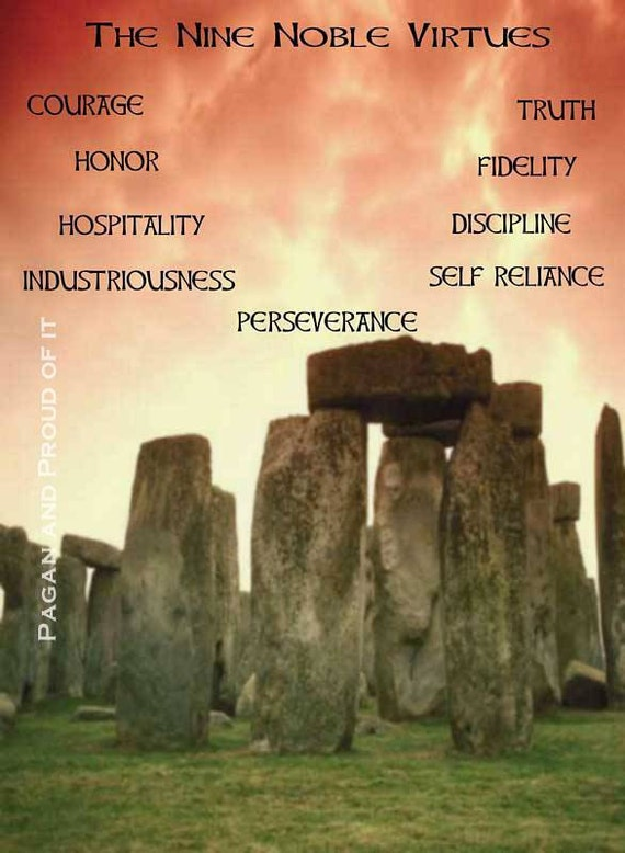 "The Nine Noble Virtues  - 8"" x 10"" Art Print"