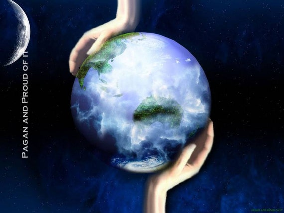 """Gaia - Our Mother Earth - She who watches - 8"""" x 10"""" Art Print"""