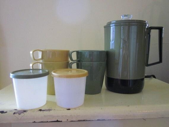 Metal Ware Corp Electric Coffee Perculator Travel Set - SALE
