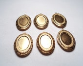 6 - Vintage oval ornate lockets with setting - m61
