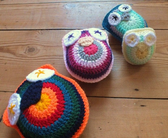 The Owl Family - Instant Download PDF Crochet Pattern