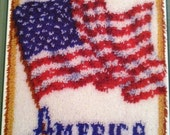 Complete Latch Hook- God Bless America NEW PRICE
