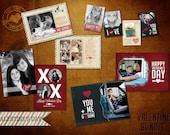 Assorted Vintage PSD Valentine Template for Photographers - Valentine Bundle