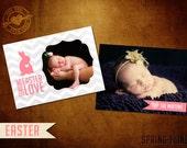 5x7 Retro Modern Easter Photo Card Template
