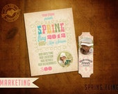 Easter Marketing template for Photographers with free Facebook profile badge
