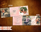5x5 Trifold Vintage Announcement Template, Sugar and Spice Collection