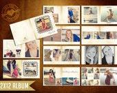 12x12 Vintage Charlie Album Template for Photographers