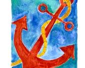 Anchor's Away Illustration (Print)