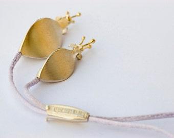 Sterling Silver Flower Lariat - Modern Art Nouveau flower necklace - Statement necklace - Art Nouveau pendant - Gift for Her