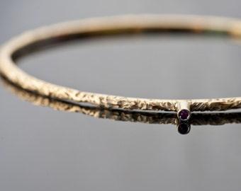 Handmade 18k Gold Gilt Sterling Silver Bracelet with Ruby