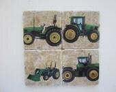Travertine Tile 4x4 Coaster - set of 4 - John Deere