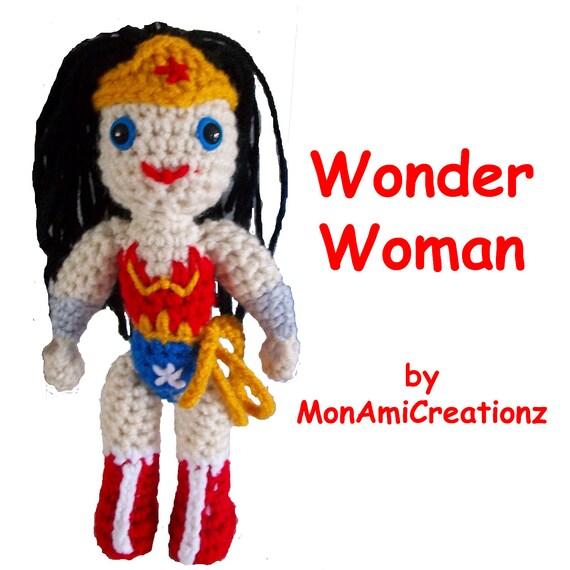 Amigurumi Wonder Woman : Items similar to Amigurumi Doll- Wonder Woman Inspired ...