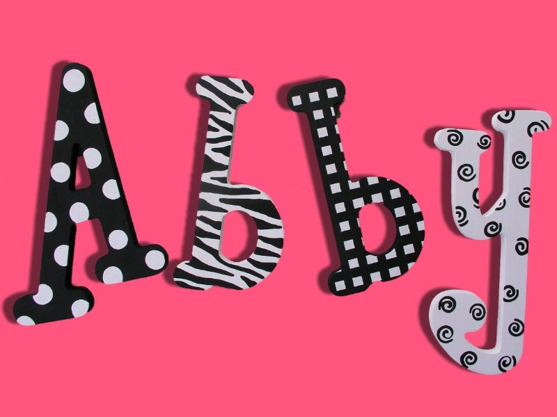 zebra letters wooden signs letters wall letters wooden signs wooden baby girl nursery kids room decor nursery letters personalized letters