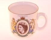 Vintage Queen Elizabeth II Teacup Candle