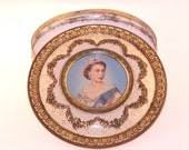 Vintage Queen Elizabeth II Large Tin Candle