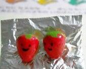 Kawaii Strawberry Earrings