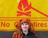 Fleece Hat - Orange Flame