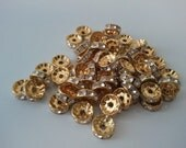 10mm gold basketball wives rondelles 50pcs