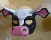 Leather Cow Mask