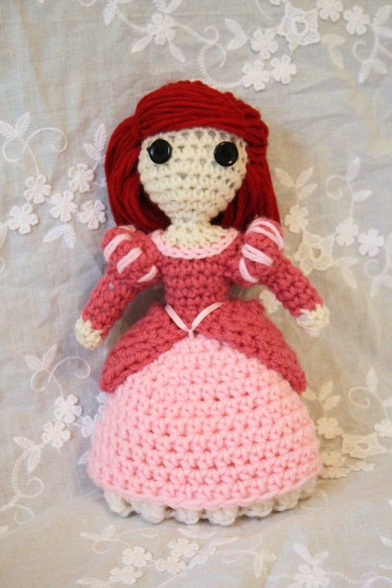 Ariel crocheted doll