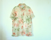 Oversize Vintage Floral Shirt