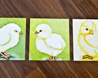 Spring Chick 3 cards/Digital print