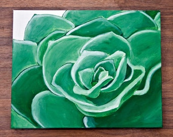 Succulent Green/Acrylic on canvas