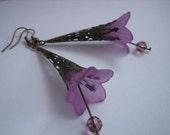 RESERVED for Eirini Steelorb - Purple Vintage Inspired Filigree Earrings