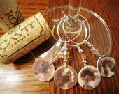 Romantic Victorian Vintage Ladies Wine Glass Charms