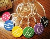 Hi Wine Glass Charms - Set of Six