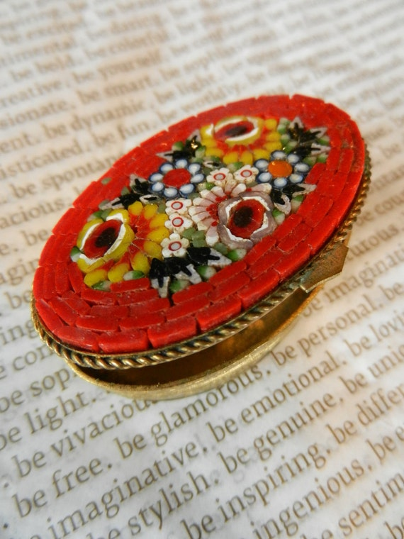 Vintage Micro mosaic pill box
