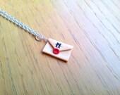 Hogwarts acceptance letter necklace