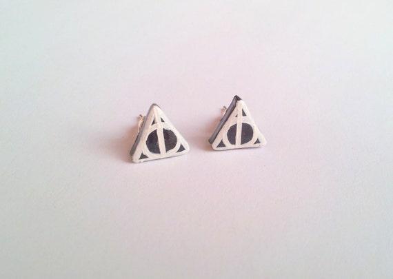 Deathly Hallows post earrings