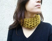 Cowl scarf mustard cowl scarf OOAK ready to ship, gift for mom