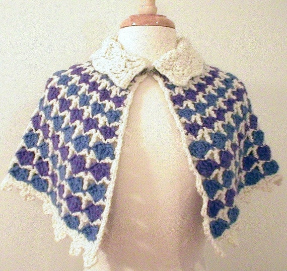 Multi-Color Fan Stitch Capelet - design sample
