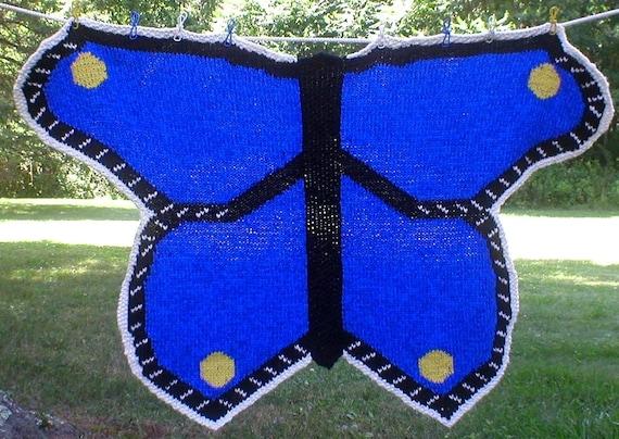 Butterfly Baby Blanket - design sample