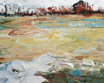 New England Landscape No.86 original oil painting, 18x18inches