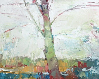New England Landscape No.87 original oil painting, 18x18inches