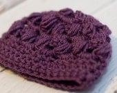 Purple Puff Beanie