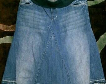 4 insert jean skirt