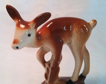 Vintage Yearling ceramic deer figurine