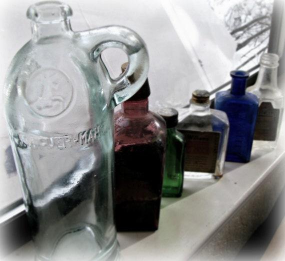 Vintage Xoriguer-Mahon Gin Greenish Glass Bottle Decanter